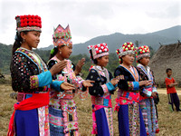 Girls celebrating Hmong New Year